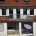 Holz Balkontür Basalt grau 1 Flügelig