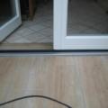 Holz Balkontür Weiß 1 Flügelig mit Glasteilende Sprossen & 20 mm Schwelle & Rollladen