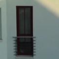 Kunststoff Balkontür Weinrot 1 Flügelig mit Wiener Sprosse