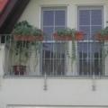 Kunststoff Balkontür Weiß 1 Flügelig mit Sprossen & Rollladen
