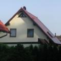 Kunststofffenster Dekor Eiche mit Rollladen