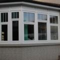 Holzfenster 3 Flügelig Weiß mit Oberlicht & Sprossen & Kassettenfüllung
