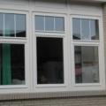 Holzfenster 3 Flügelig Weiß mit Oberlicht & Sprossen