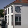 Rundbogen Kunststofffenster 2 Teilig mit Alu Fensterbank