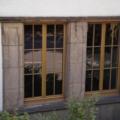 Holzfenster Eiche-hell 2 Flügelig mit Wiener Sprossen