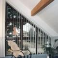 Holzfenster mit Schräge 7 Teilig Nussbaum und Brüstungsverglasung
