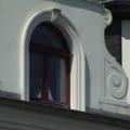 Holzfenster 2 Flügelig mit Oberlicht Rundbogen und Kapitellen
