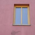 Holzfenster 1 Flügelig Eiche-Lasur mit Glasteilender Sprosse