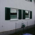 Kunststofffenster Weiß 1 Flügelig mit Holz Klappläden