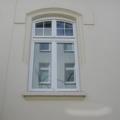 Holzfenster 2 Flügelig Stulp Weiß mit Stichbogen & Sprossen