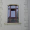 Denkmalgeschütztes Holzfenster 1 Flügelig mit Stichbogen 9 Teilig