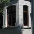 Denkmalgeschütztes Holzfenster 1 Flügelig mit Oberlicht Stichbogen & Kapitellen