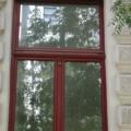 Denkmalgeschütztes Holzfenster 2 Flügelig mit Oberlicht & Kapitellen