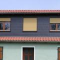 Holzfenster 2 Flügelig Eiche-hell mit Klappladen & Rollladen