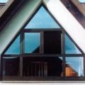 Dreiecksfenster Giebel Kunststoff Eiche-dunkel