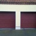 Garagen Sektionaltor mit Kassette Woodgrain RAL 8015 Kastanienbraun