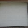 Garagen Sektionaltor mit Kassette RAL 9016 Weiß