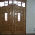 Holz Haustür Eiche 2 Flügelig mit Oberlicht Barockstil Geschwungen