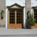 Holz Haustür 2 Flügelig Kiefer Eiche hell lackiert mit Wiener Sprossen
