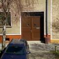 Holz Haustür 2 Flügelig  mit Oberlicht & Kassetten Füllungen Farbe Teak