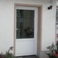 Kunststoff Haustür mit Sandwichplatte & Ornamentglas Barock