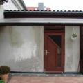 Holz Haustür mit Oberlicht & Wiener Sprossen Farbe Teak
