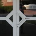 Aluminium Haustür 2 Flügelig mit Kämpfer Weiß & Stoßgriff