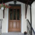 Holz Haustür mit Oberlicht & Kassettenfüllung mit Glas Eiche Hell