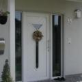 Kunststoff Haustür mit Seitenteil Links & Rechts mit Rodenberg Weiß