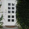 Kunststoff Haustüren mit Wölb-scheiben Weiß und Stoßgriff & Briefklappe