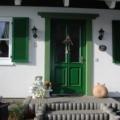 Holz Haustür mit Kasetten Füllung & Glas Farbe Tannengrün