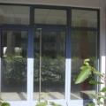Aluminium Haustür 2 Flügelig mit Seitenteil & 3 teiliges Fest-Kipp Oberlicht mit Stoßstange