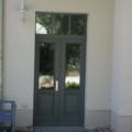 Holz Haustür 2 Flügelig RAL 7005 Mausgrau mit Oberlicht