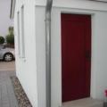 Kunststoff Haustüren als Nebeneingangstüren mit Füllung Dekor Dunkelrot