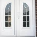 Kunststoff Haustür 2 Flügelig Weiß mit Rodenberg Füllung