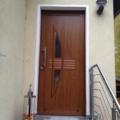 Aluminium Haustür Golden Oak mit Rodenberg Füllung 150-60