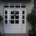 Holz Haustür Weiß mit Seitenteilen & Oberlicht & Wölb-scheiben