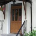 Holz Haustür mit Oberlicht & Kassettenfüllung Eiche Hell