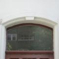 Holz Haustür mit Stichbogen Oberlicht Teak