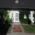 Kunststoff Haustür mit Wölb-scheiben Weiß