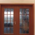 2 Flügelige Innentür mit Zarge Buche & Verglasung Barock Weiß LA3 & Sprossen Rahmen