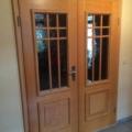 2 Flügelige Innentür mit Zarge Buche & Verglasung Barock Weiß  & Kassetten Füllung & Sprossen Rahmen