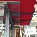 Wintergarten Markise Farbe DB 703 mit Gasdruckfedern für straffe Tuchhaltung & Acrylstoff Farbe Rot