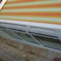 Wintergarten Markise Farbe Weiß RAL 9016 & Acrylstoff Stoff Farbe Weiß & Orange