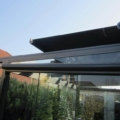 Wintergarten Markise Farbe Anthrazitgrau DB 703 & Acrylstoff Stoff Farbe Grau