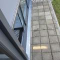 Ganzglas Schiebetür als Vollglas Schiebewand 4 Spurig Farbe & Oberfläche DB 703 Anthrazitgrau  (Detailansicht)