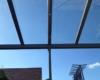 Aluminium Terrassenüberdachung Farbe Pulverbeschichtet TIGER Drylac® 29/70786 Dachverglasung 10mm Sicherheitsglas 0,76 Folie mit Erhardt Wintergartenmarkise TM 18 2-teilig 2 Felder 2 Motore Bedingung über Somfy Funkhandsender & Spotlight Lichtscheine