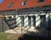 Aluminium Terrassenüberdachung Pultdach Ausführung Farbe Pulverbeschichtet TIGER Drylac® 29/70786 Dachverglasung 10mm Sicherheitsglas 0,76 Folie mit Erhardt Wintergartenmarkise TM 18 2-teilig 2 Felder 2 Motore Bedingung über Somfy Funkhandsender