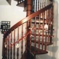 Massivholz Wendeltreppe Mahagoni Stapelia Handlauf 40 X 80 mm Durchmesser 1,8 m & gedrechselte Geländerstäbe & Deckenlochverkleidung