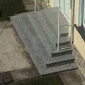 Außen Treppe geradläufig Pyramidenförmig Granit Rosa Beta Tritt & Setzstufen 3 Seitig begehbar
